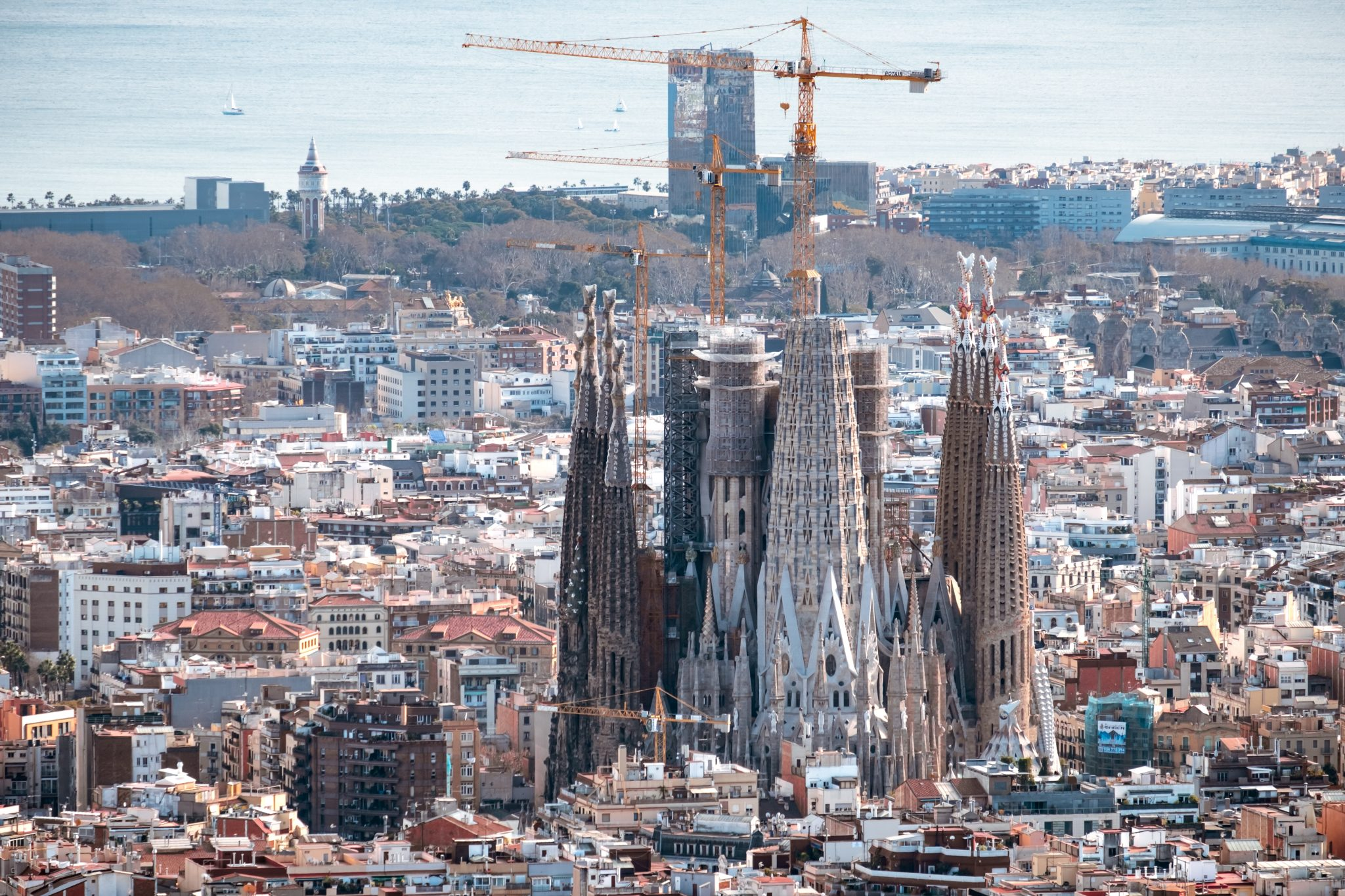 Construction of the Sagrada Familia photo by Jo Kassis