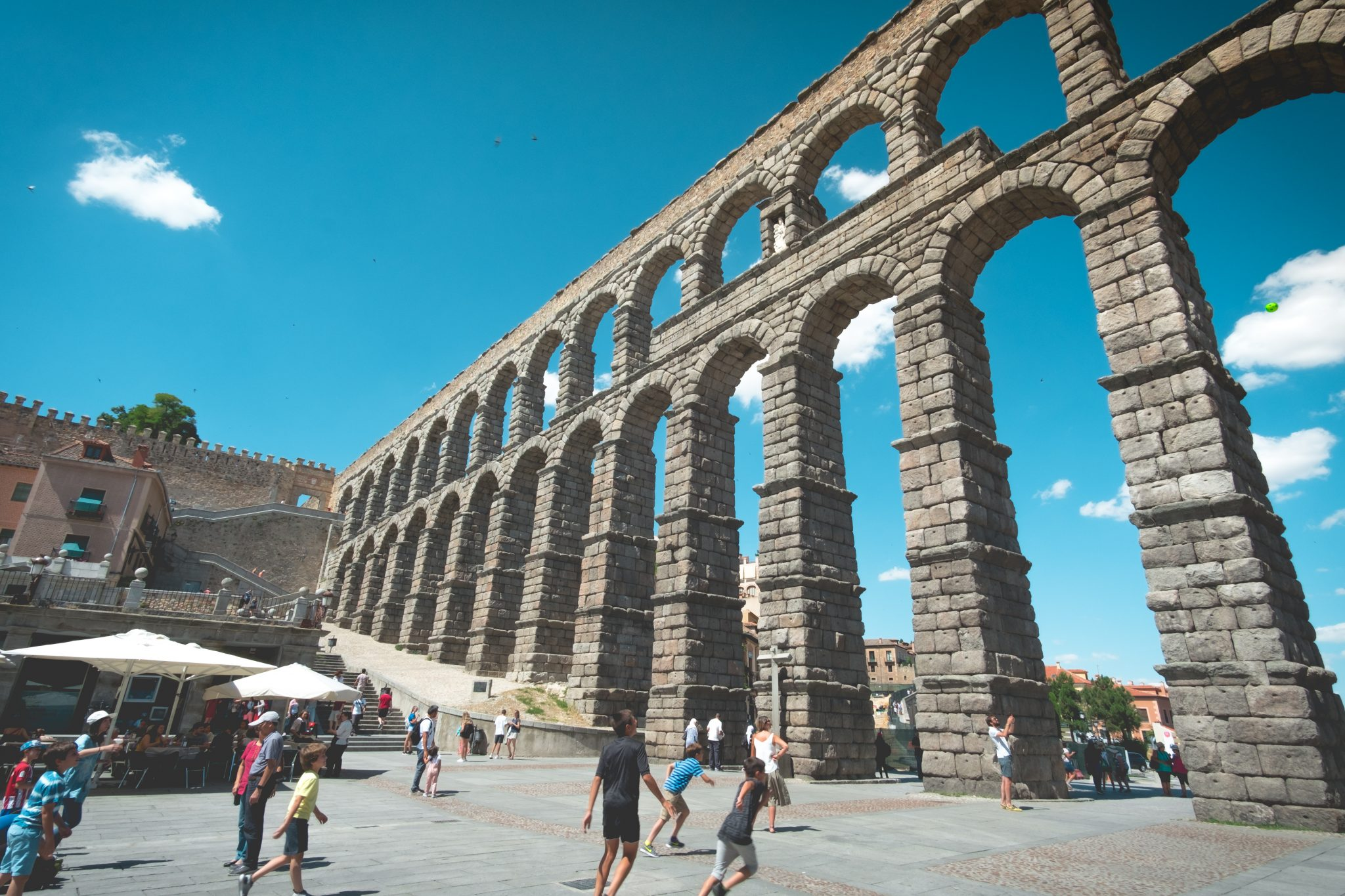 The aqueduct of Segovia photo by Jo Kassis