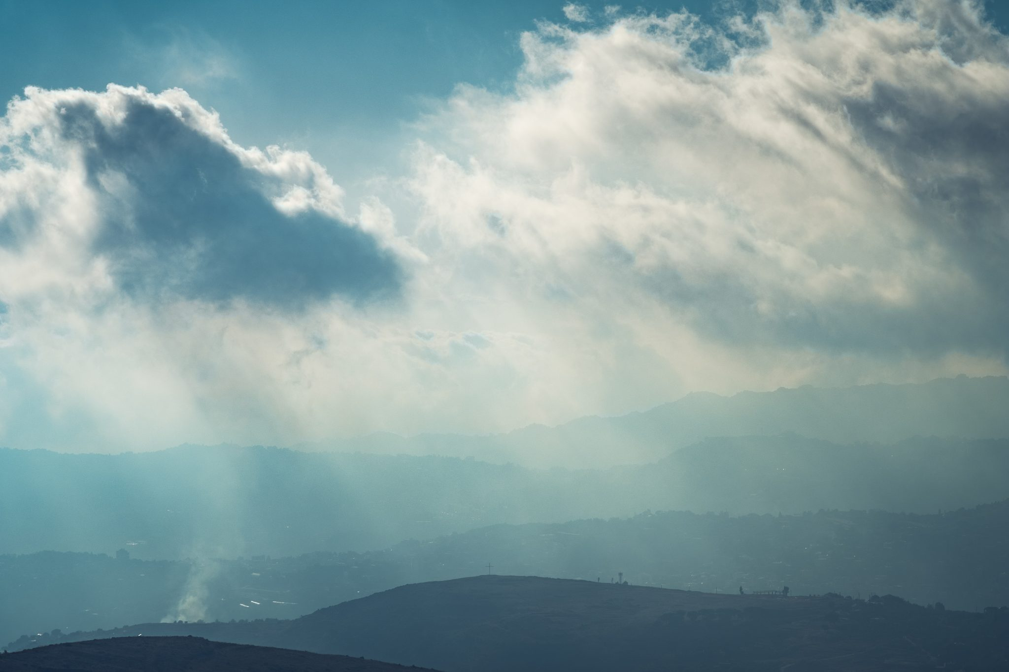 Dramatic view of the clouds above the lebanese mountains photo by Jo Kassis