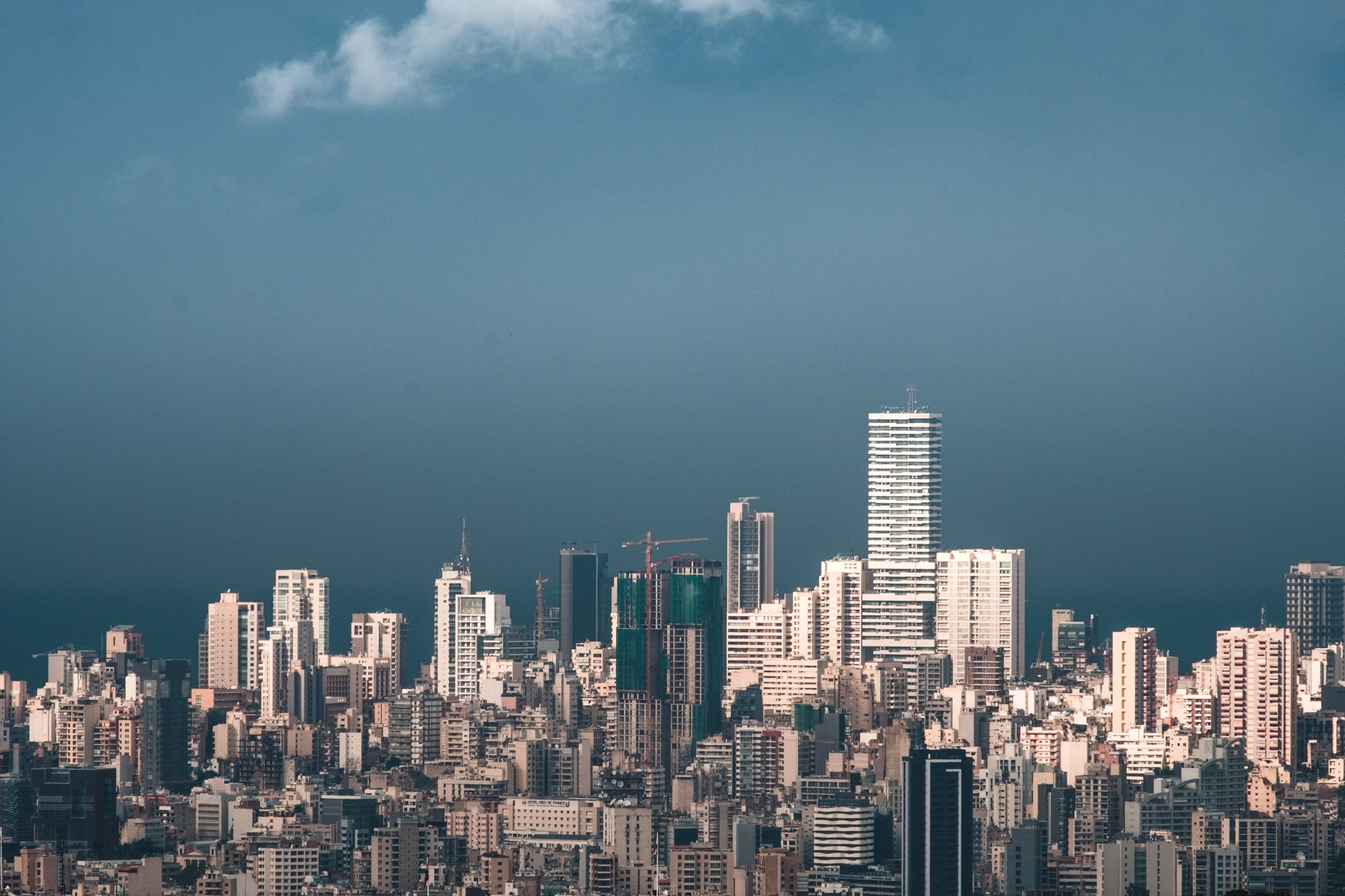 Panoramic view of Beirut photo by Jo Kassis