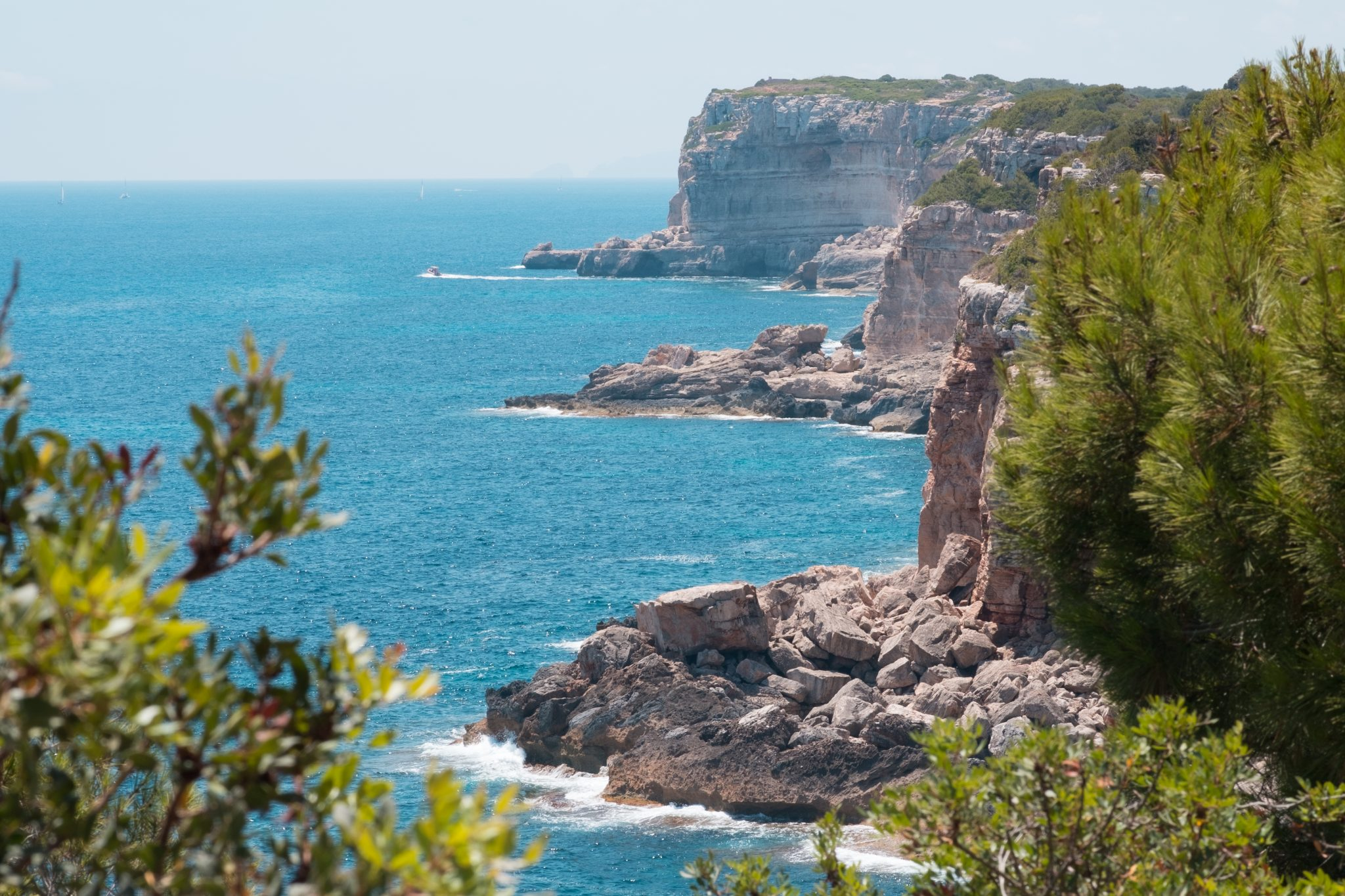 View of the cliffs in Mallorca Caló d'es Moro, Santanyí photo by Jo Kassis