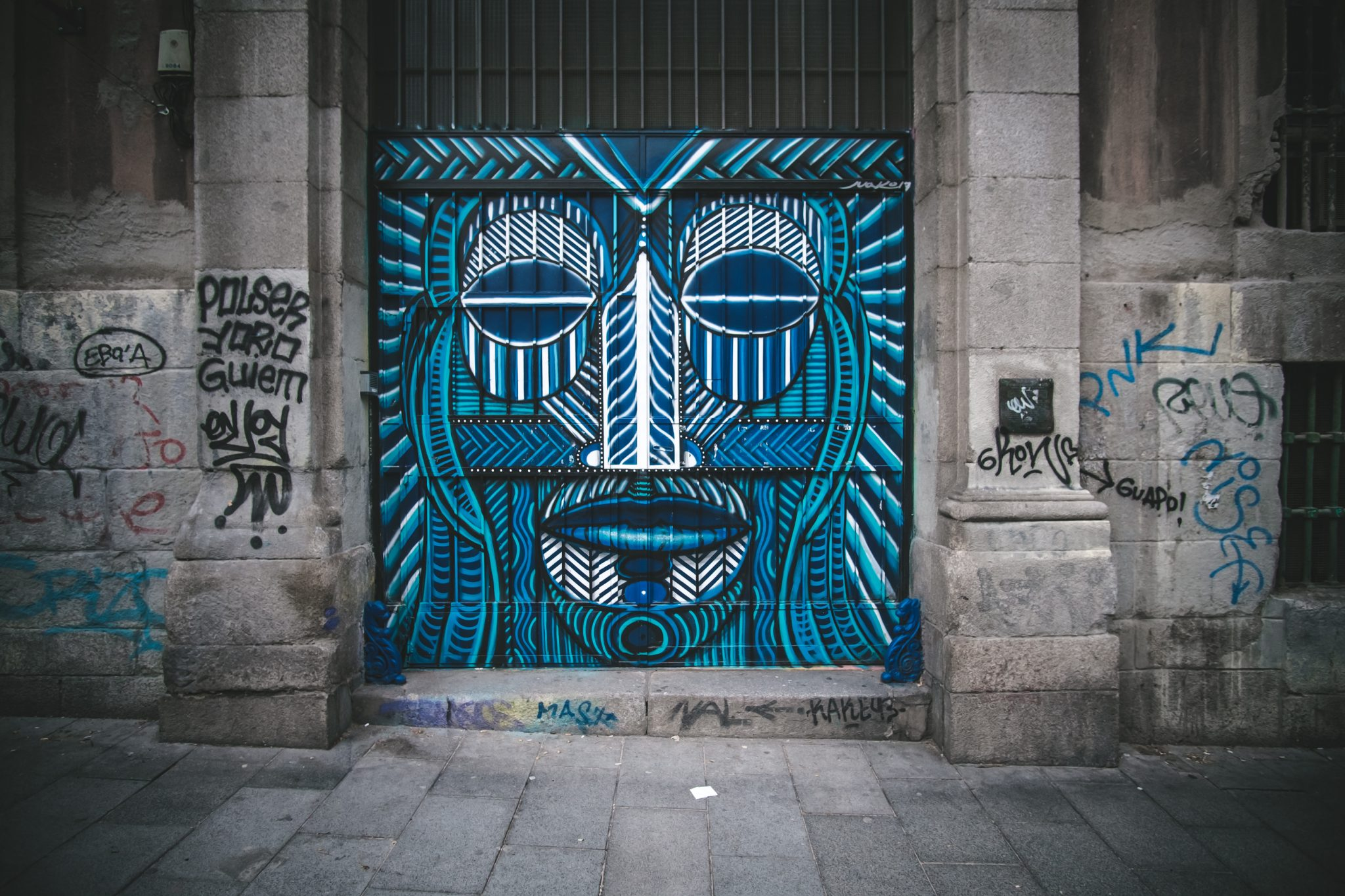 La Tabacalera Madrid mural art photo by Jo Kassis