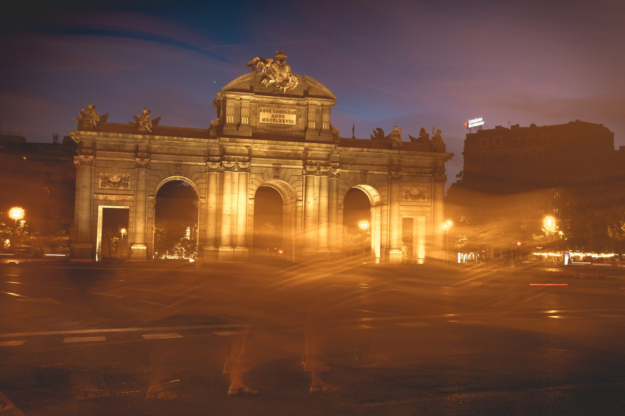Plaza de Alcala Madrid Long exposure shot photo by Jo Kassis