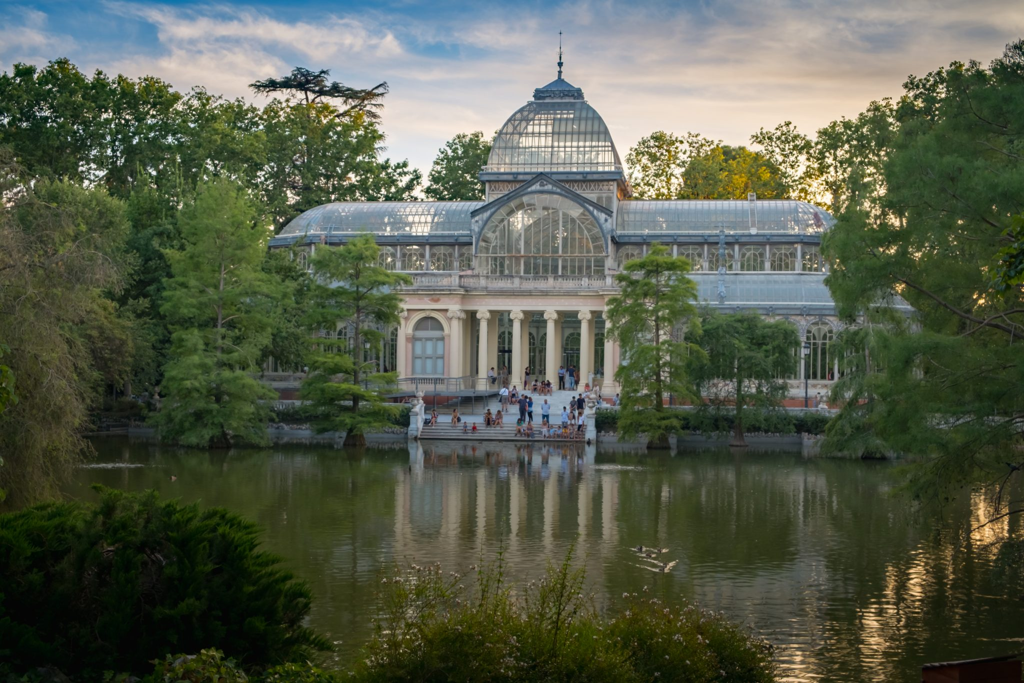 Palacio de cristal in Retiro Park Madrid photo by Jo Kassis