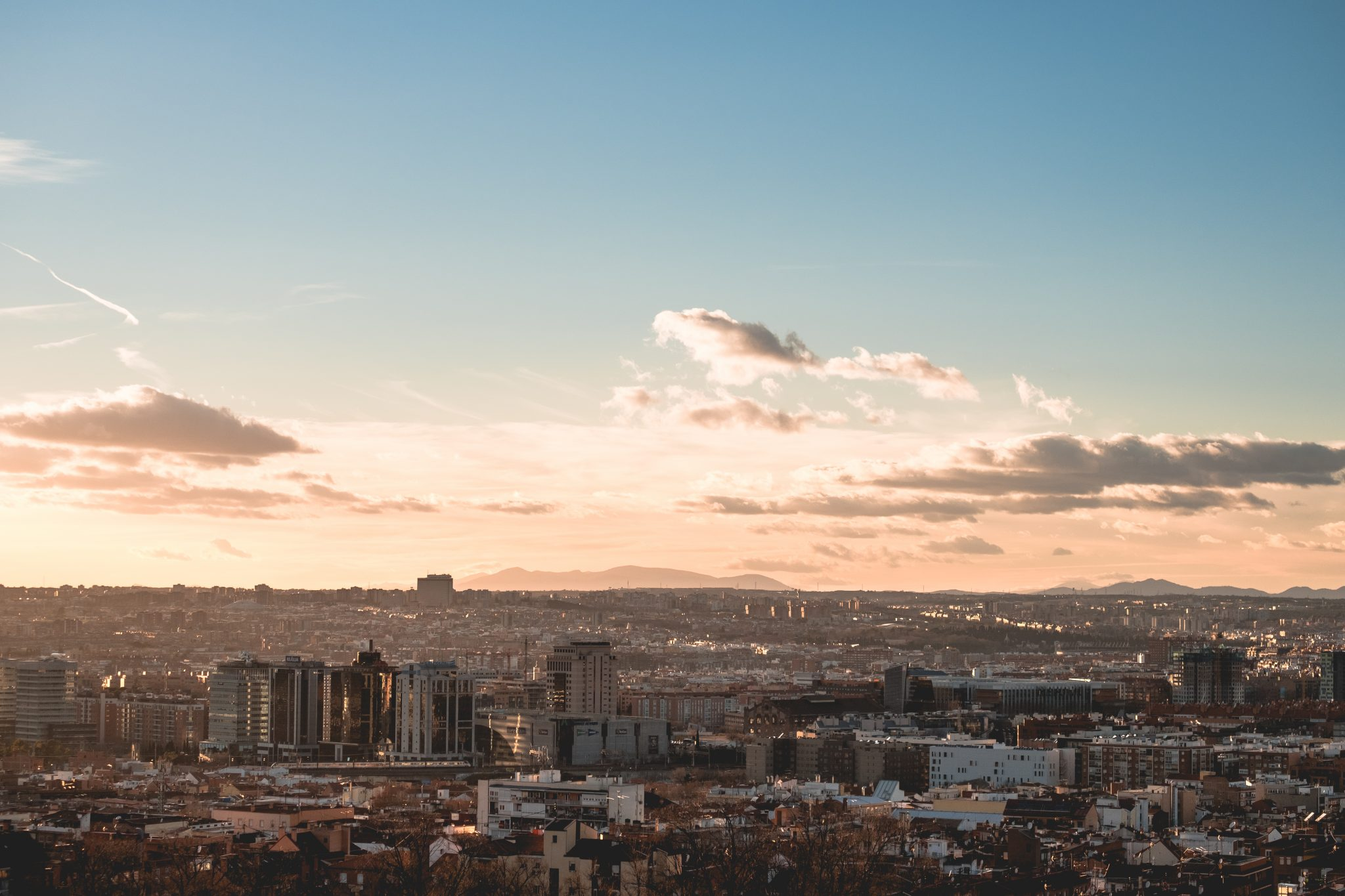 Panoramic view of Madrid at sunset photo by Jo Kassis