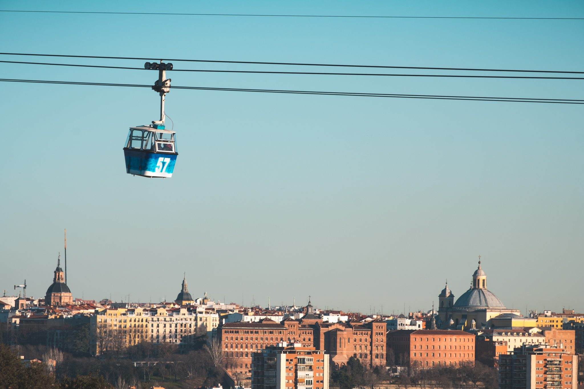 Cable car in Madrid photo by Jo Kassis