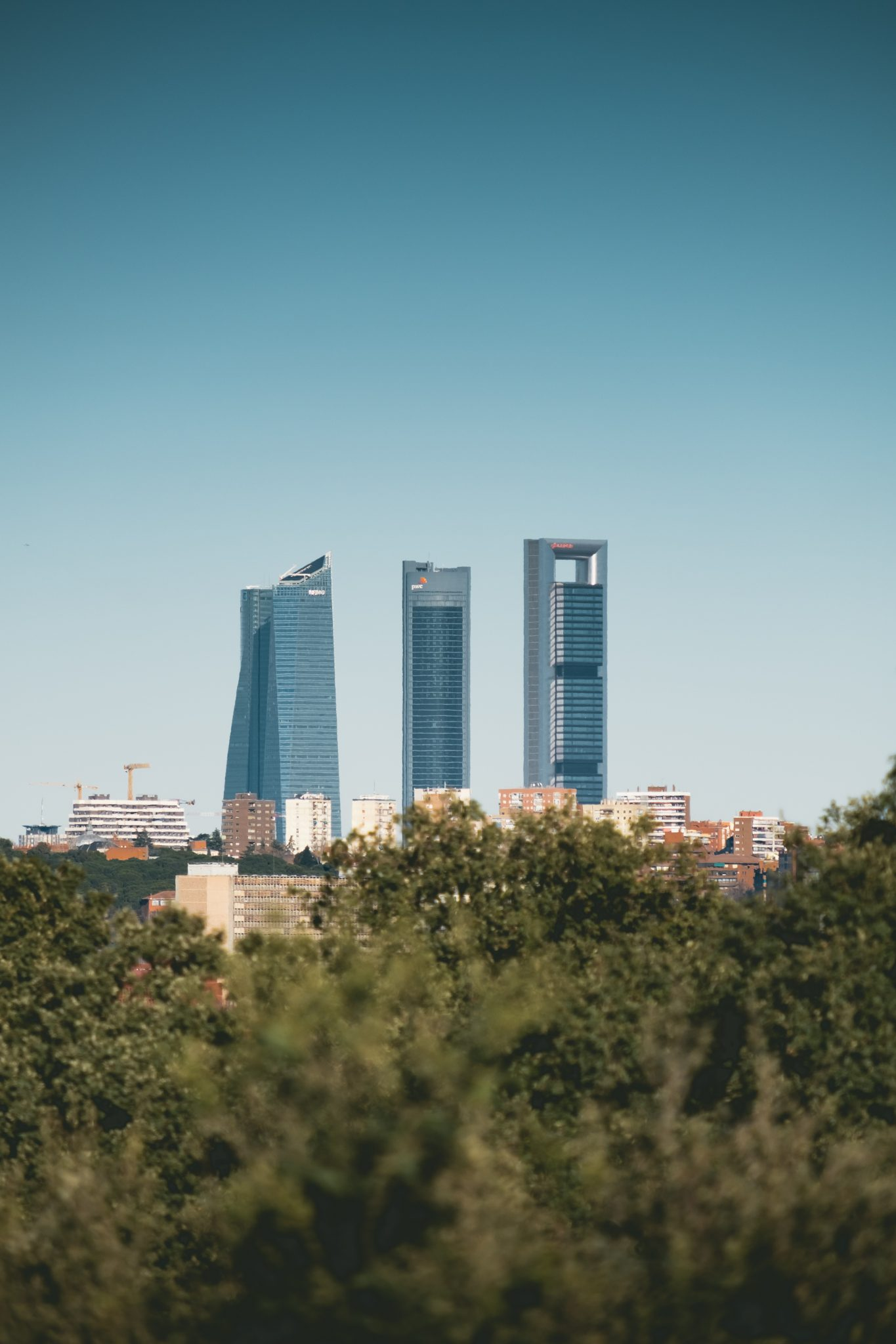 The cuattro torres Madrid photo by Jo Kassis