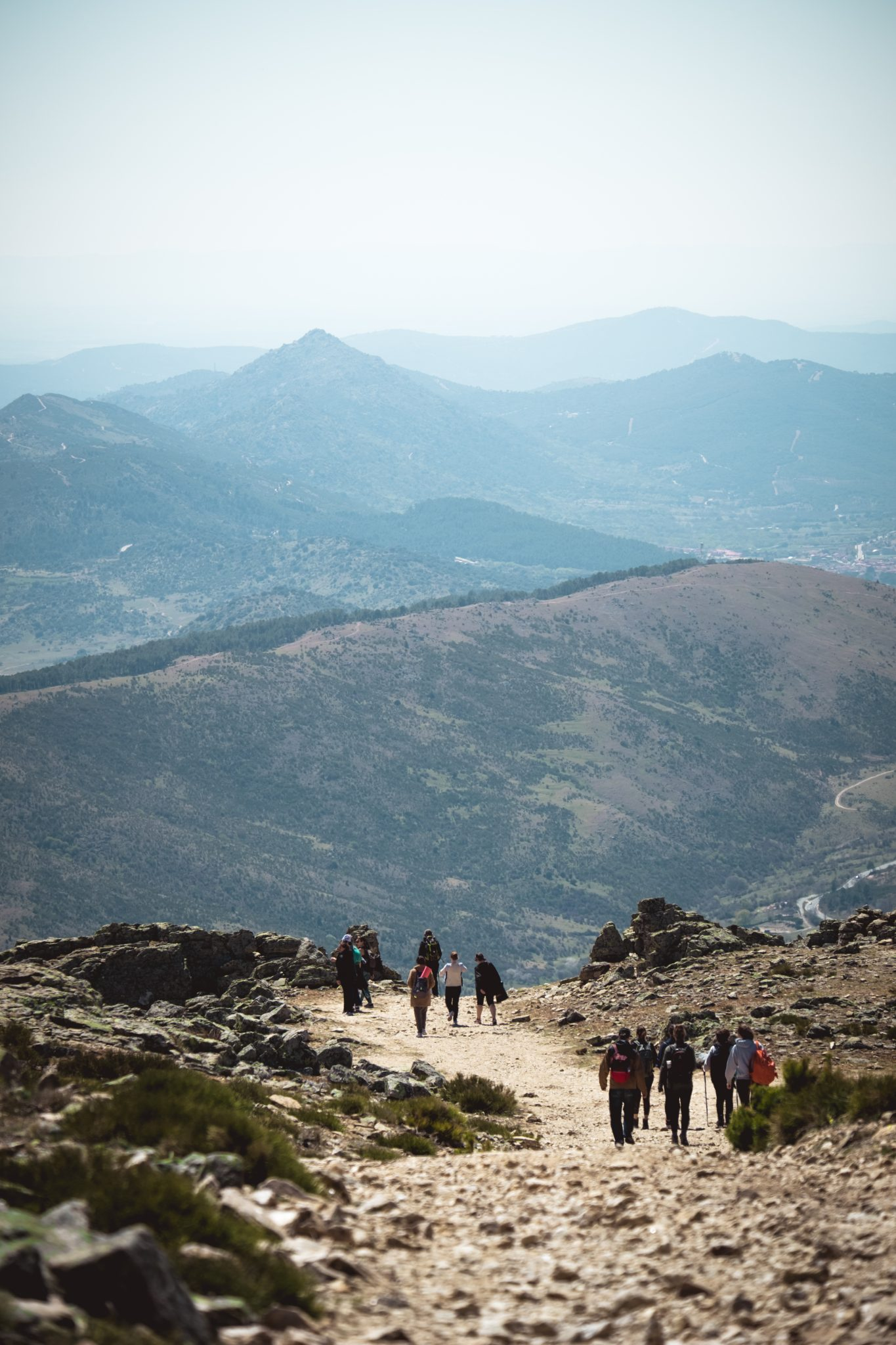 Hikers in the mountains around Madrid photo by Jo Kassis