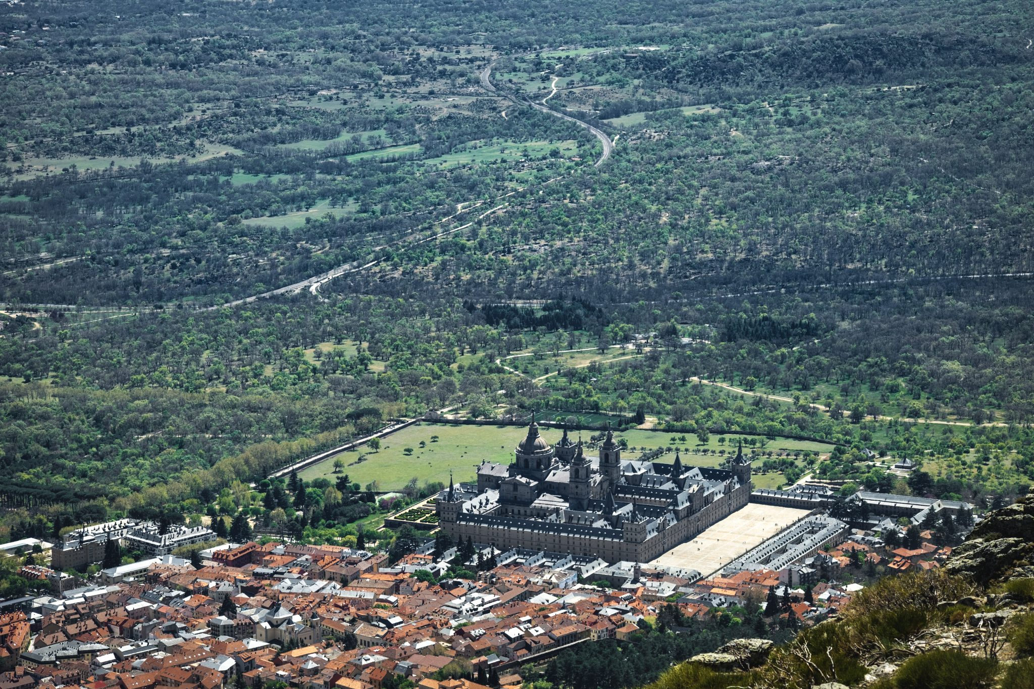 Panoramic view of the Escorial photo by Jo Kassis