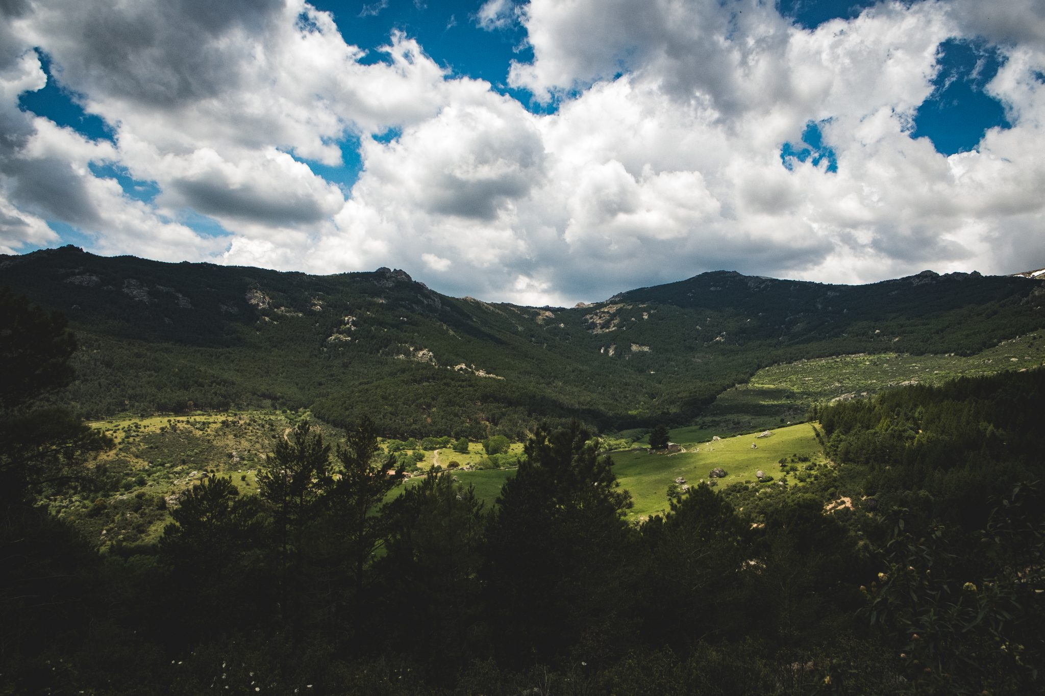 Panoramic view of the mountains in cercedilla by Jo Kassis