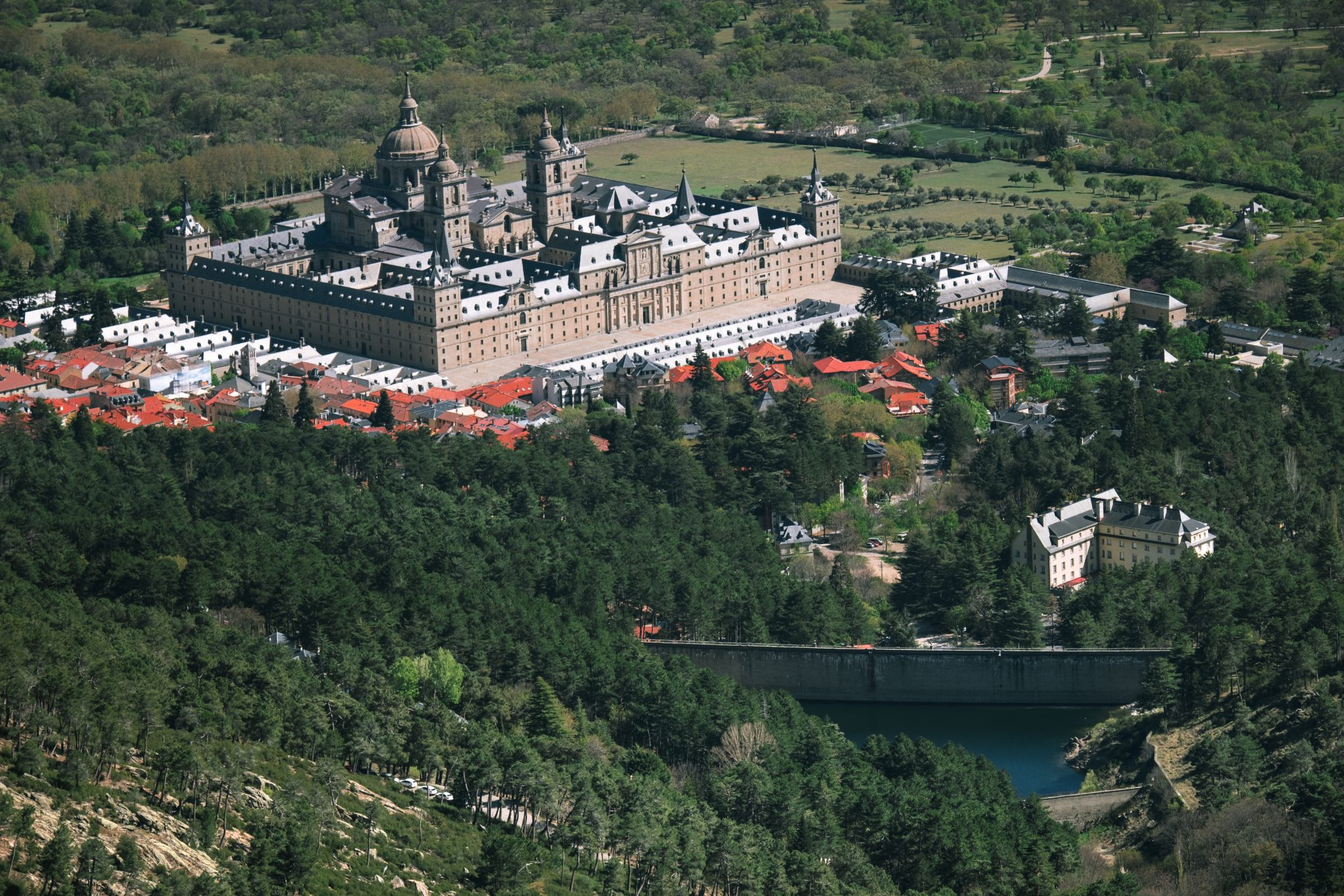 Panoramic view of the escorial by Jo Kassis