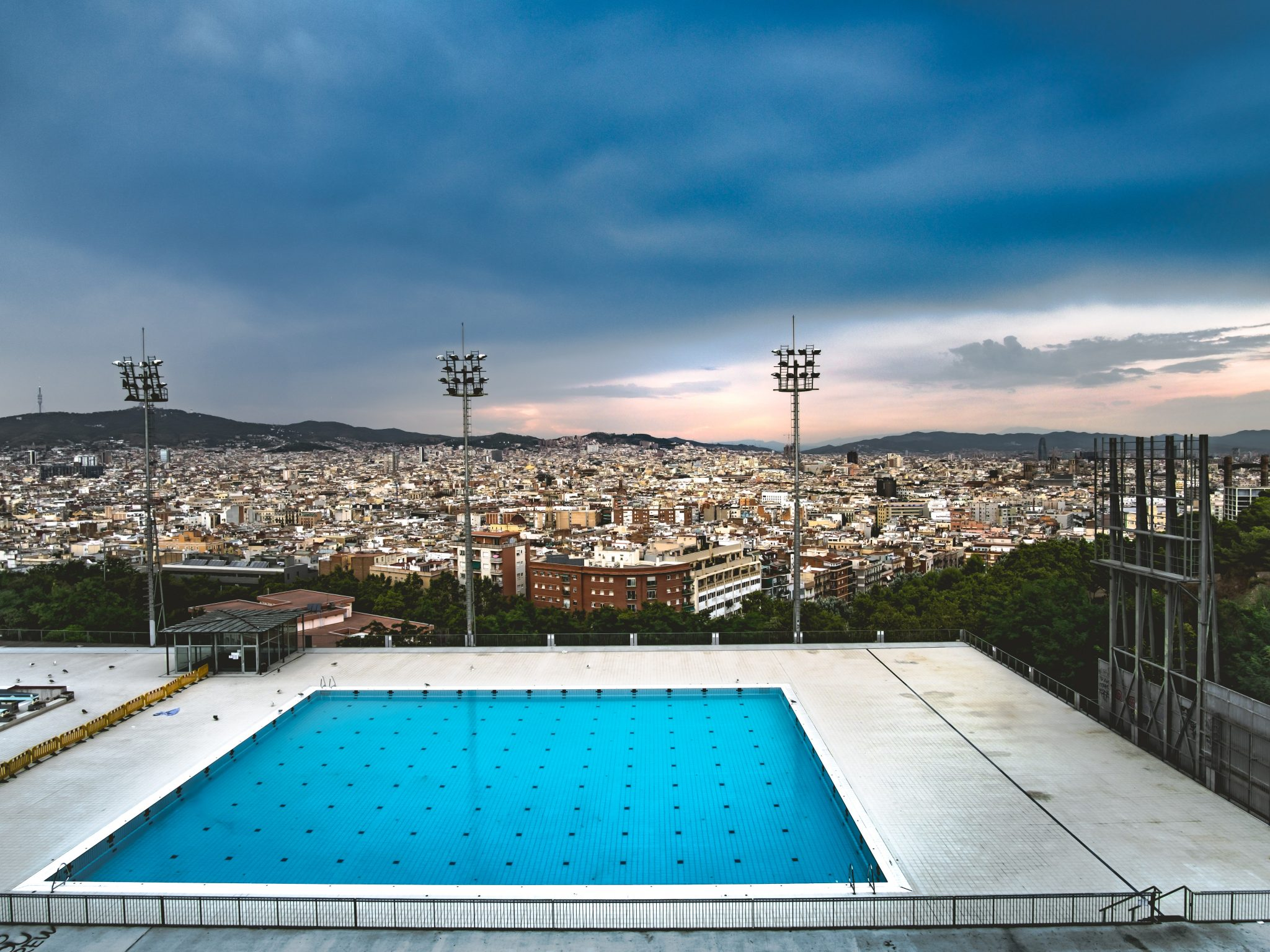 Olympic pool in Barcelona photo by Jo Kassis