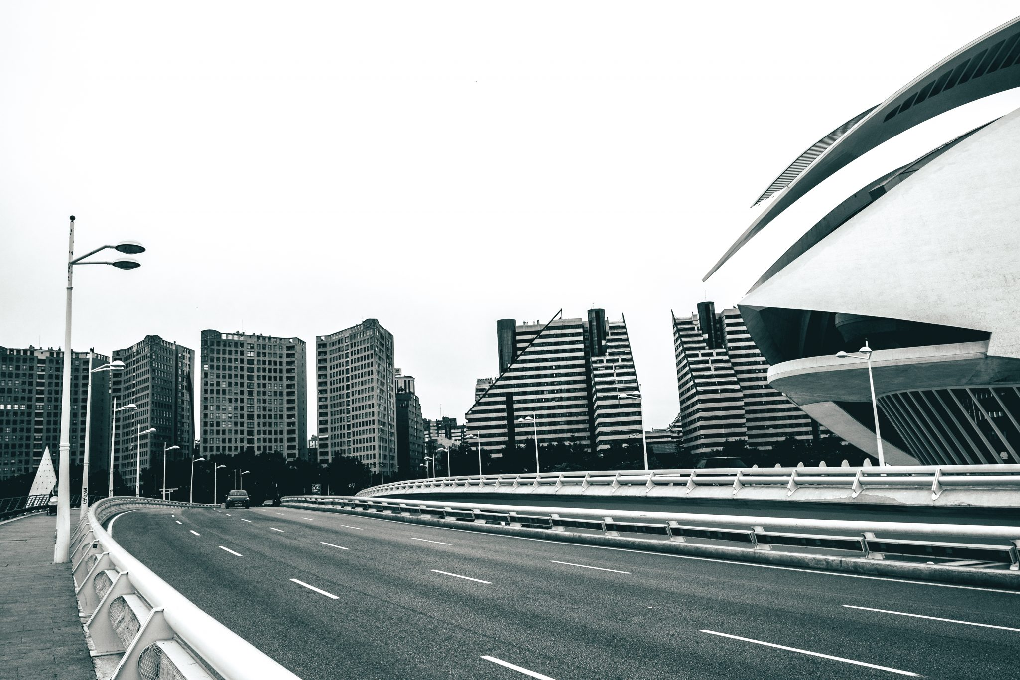 Street view at the architectural complex The City of Arts and Sciences in the city of Valencia photo by Jo Kassis