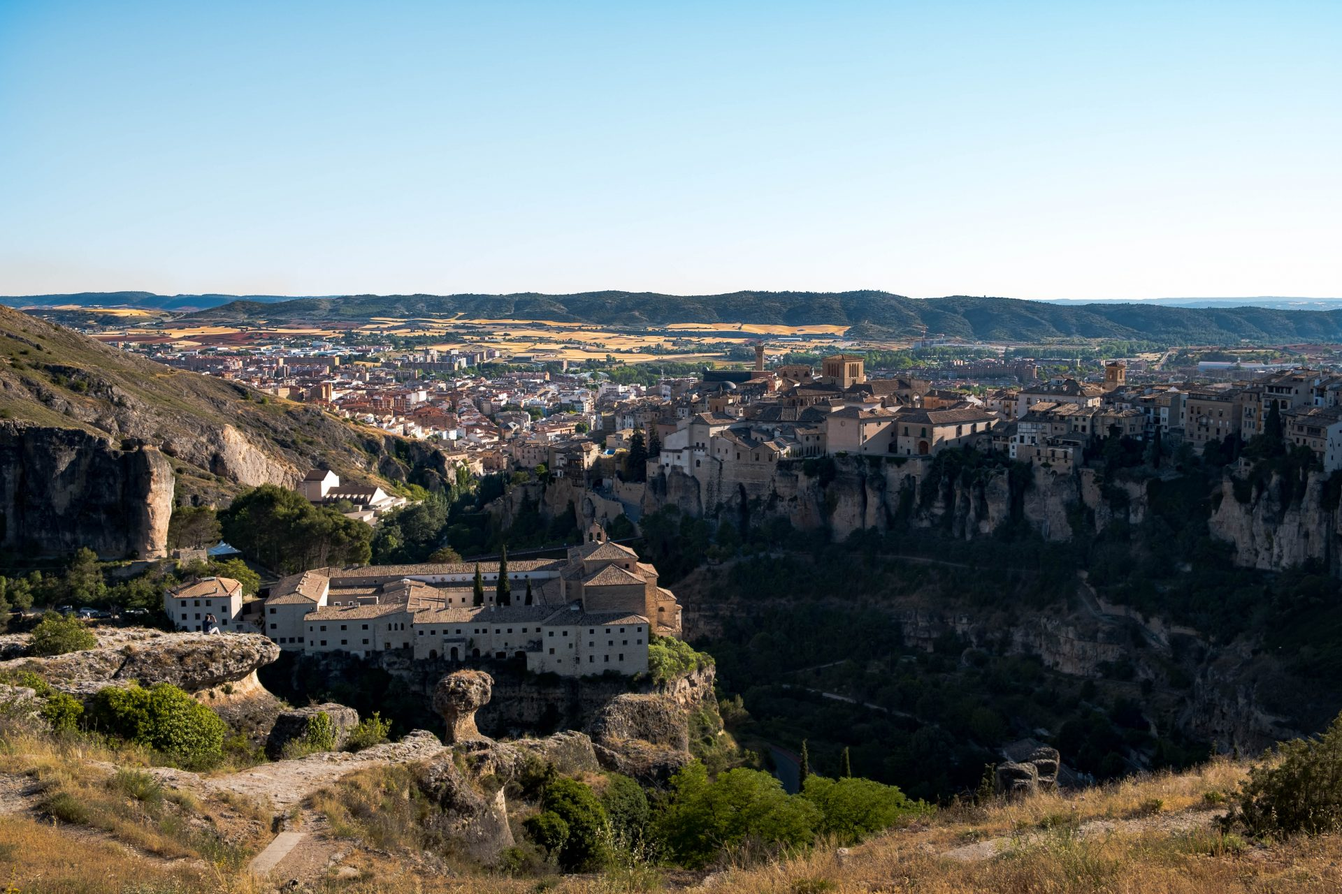 Panoramic view of the village of Cuenca photo by Jo Kassis