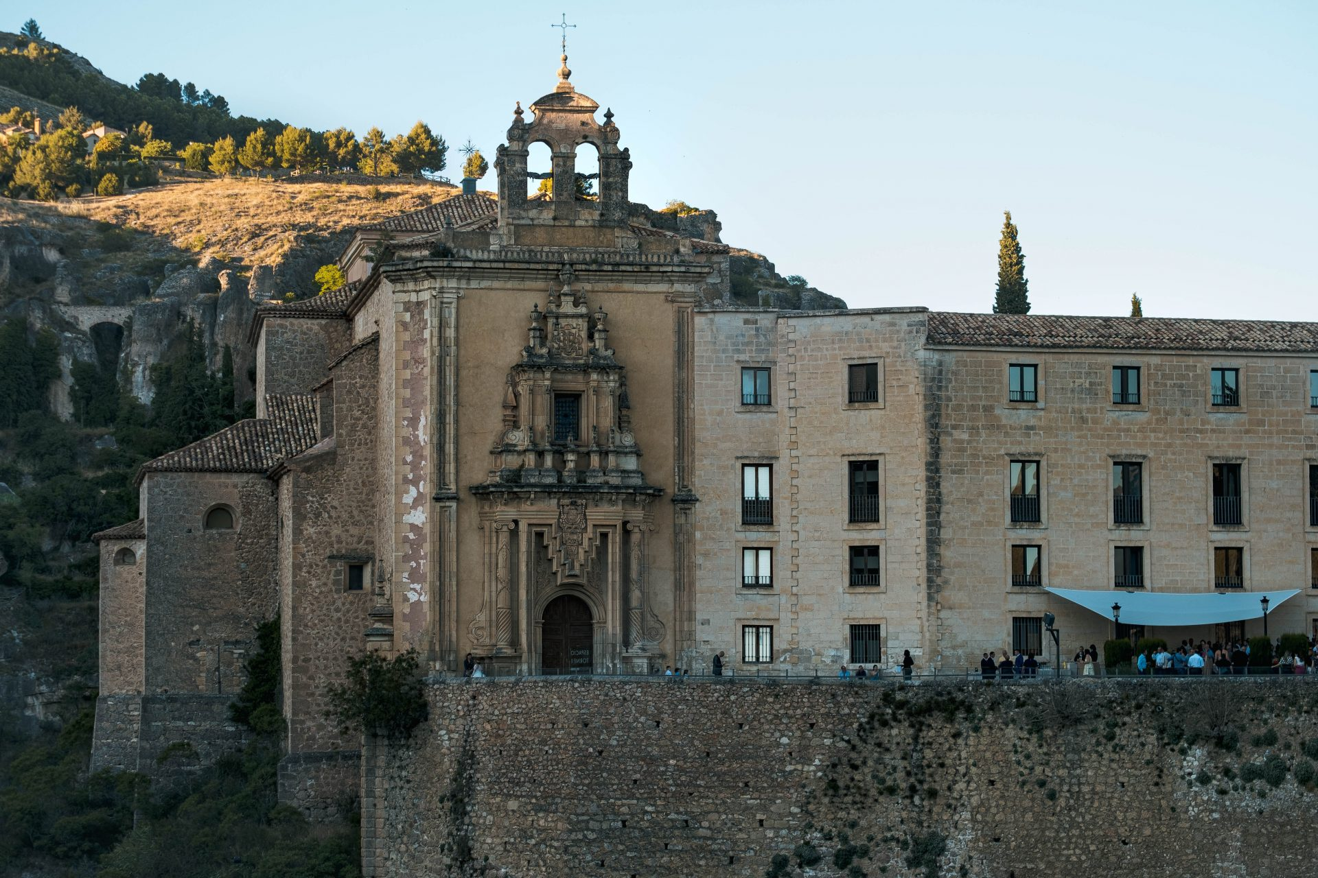 Facade of the Paradore de Cuenca photo by Jo Kassis