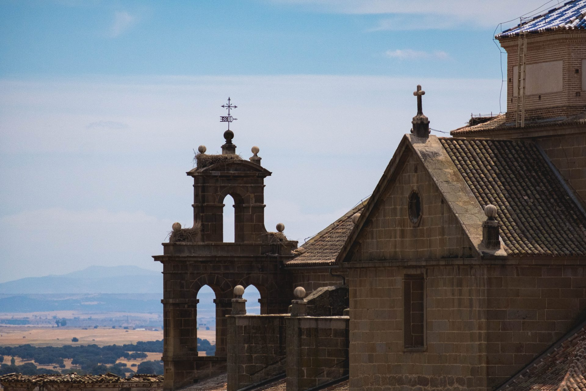 Closeup on a church in Oropesa photo by Jo Kassis