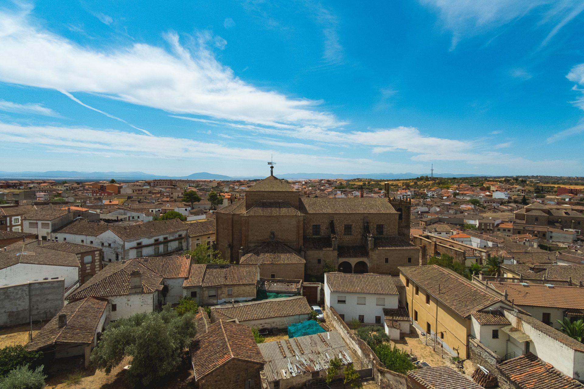 Panoramic view of the village of Oropesa photo by Jo Kassis