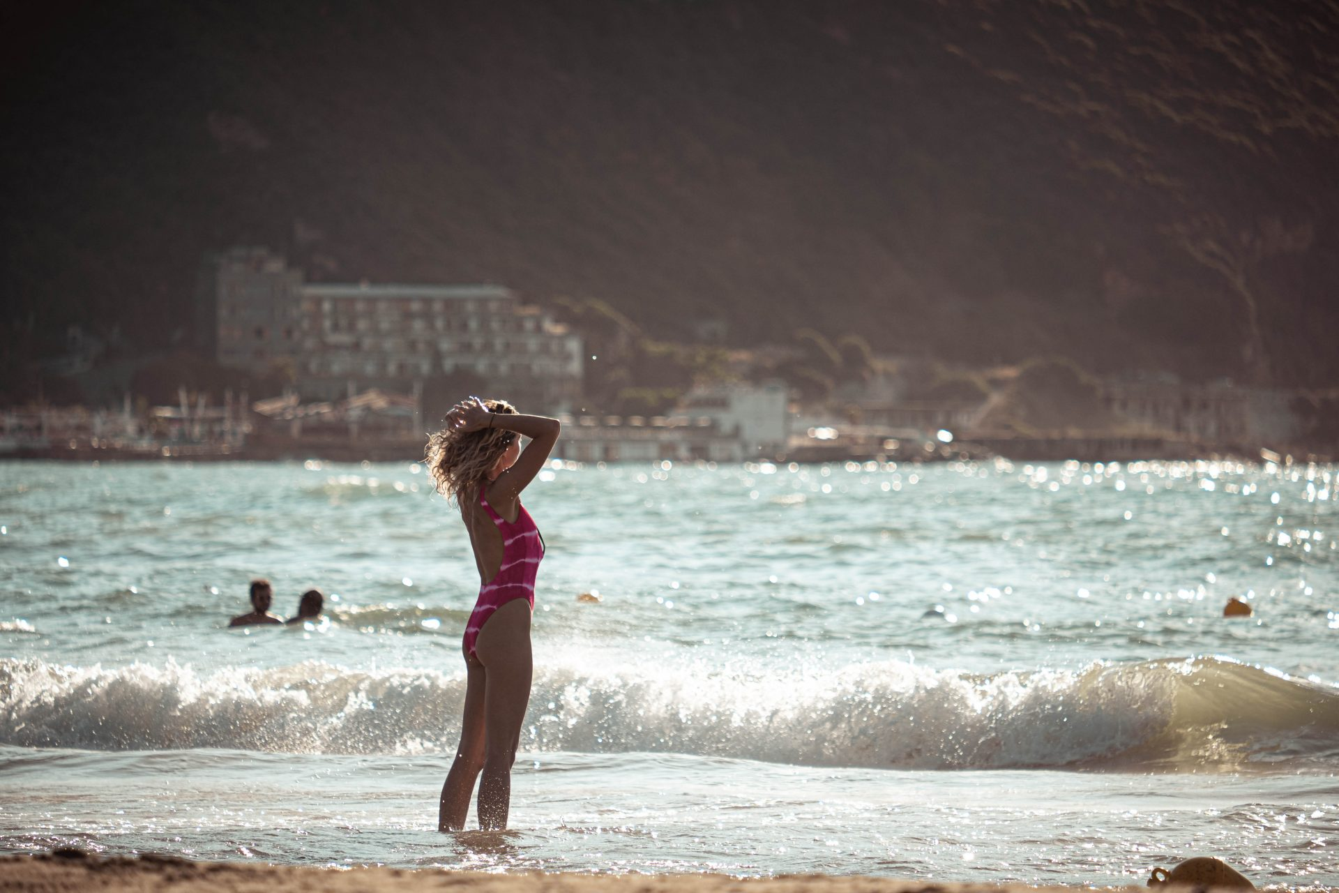 Blond women at the beach in chekaa lebanon photo by Jo Kassis