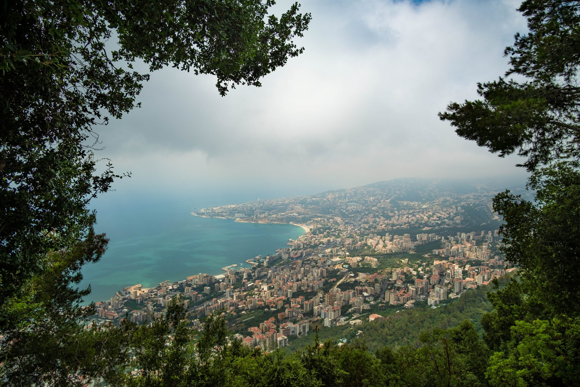 Panoramic view of the bay of jounieh from harissa photo by Jo Kassis