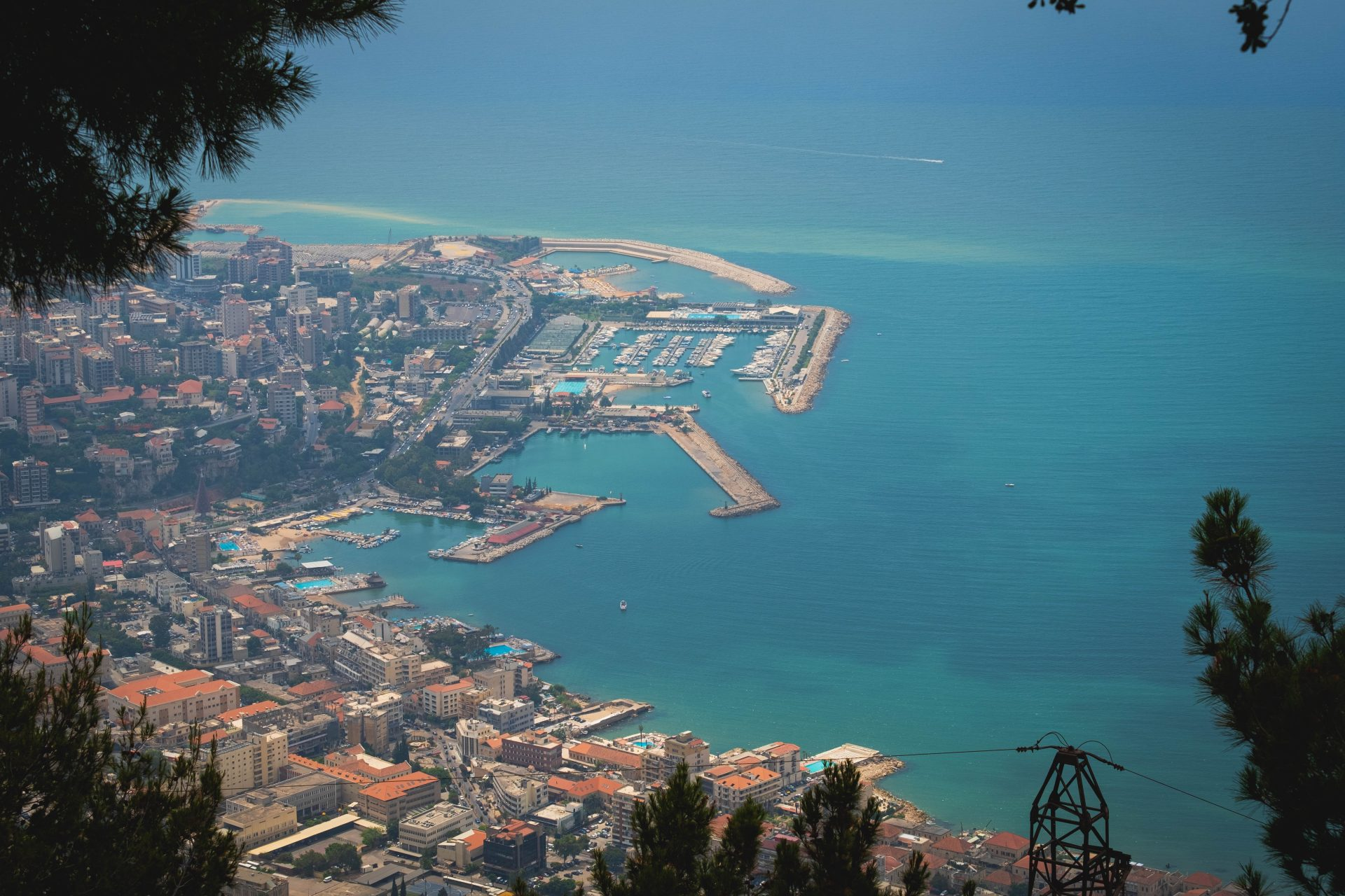 View of jounieh from harissa photo by Jo Kassis