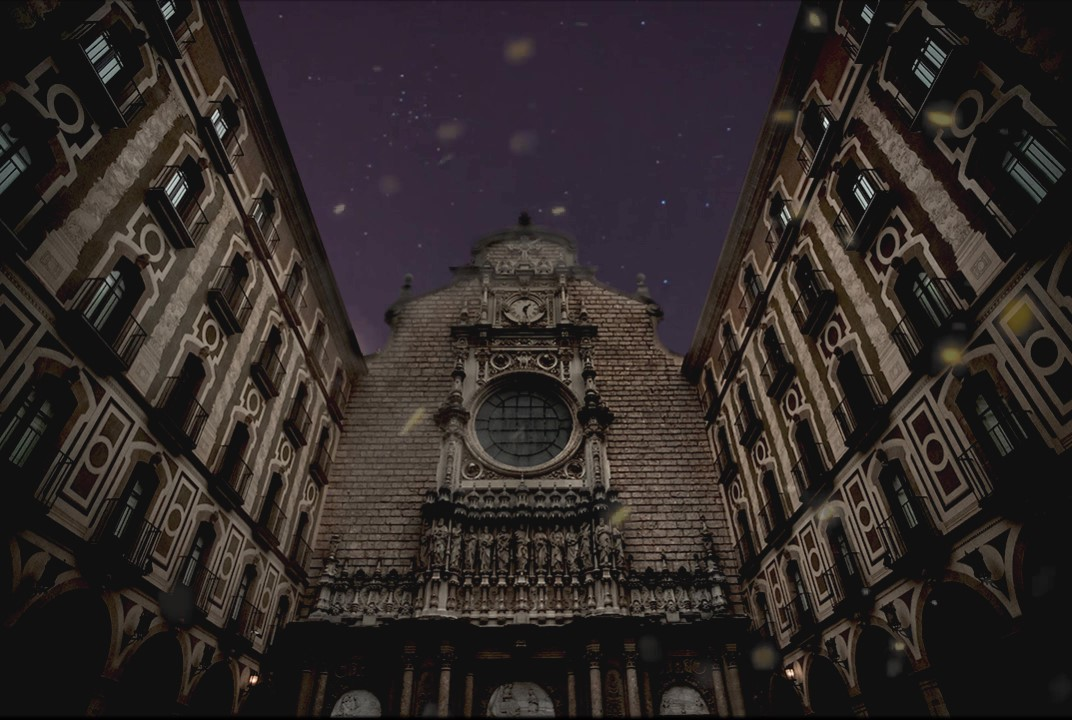 Monastery by night cinemagraph by Kassisien