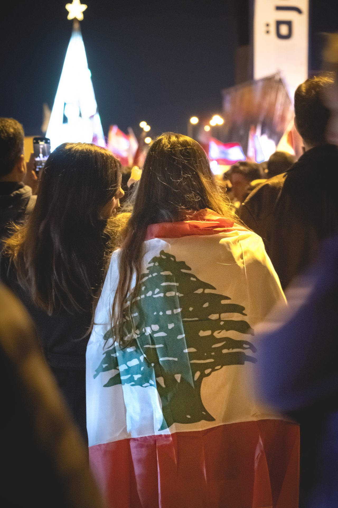 A girl during the lebanese revolution Thawra photo by Jo Kassis