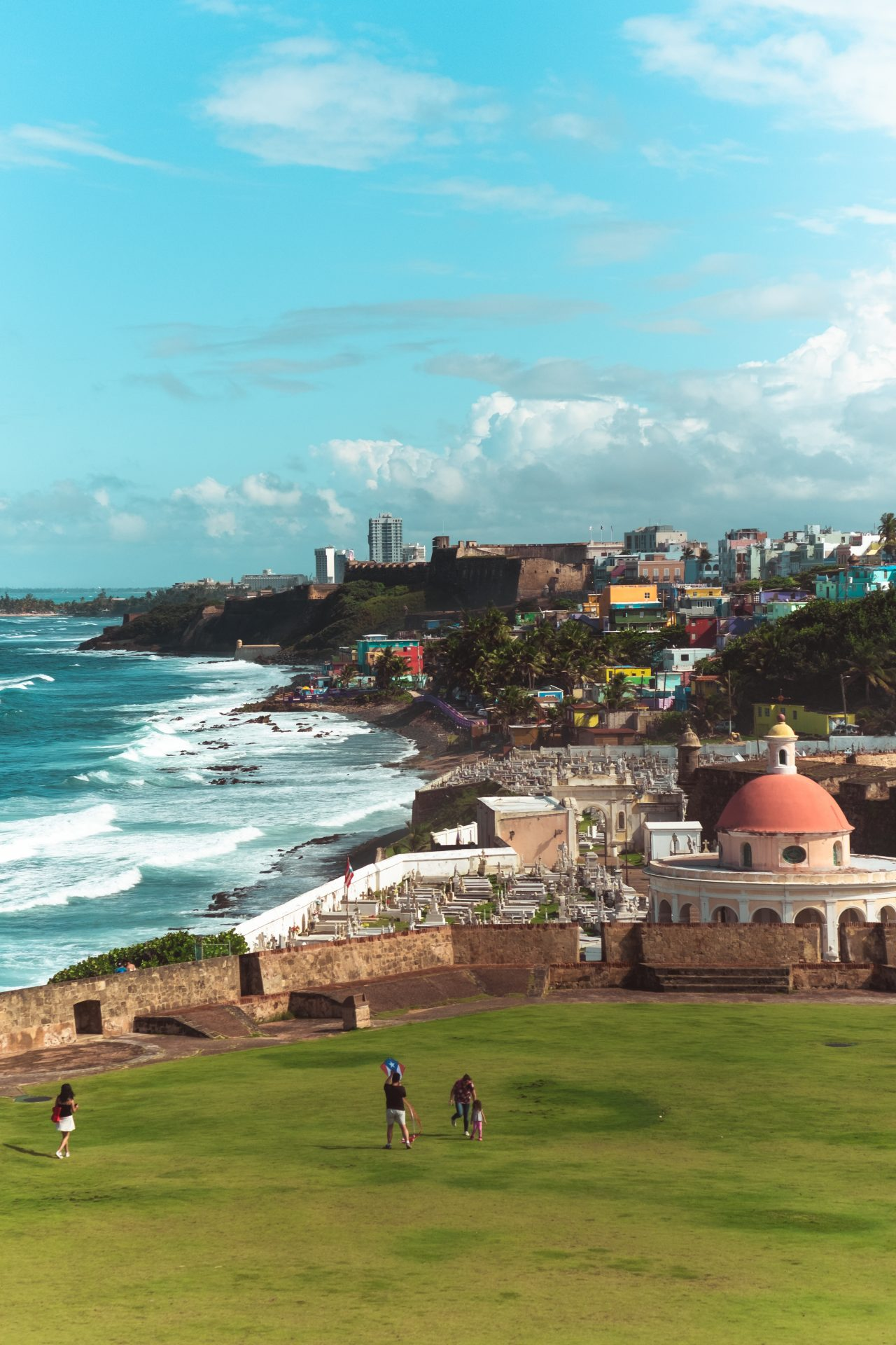 View of the cemetery and ocean from old San juan Puerto Rico photo by Jo Kassis