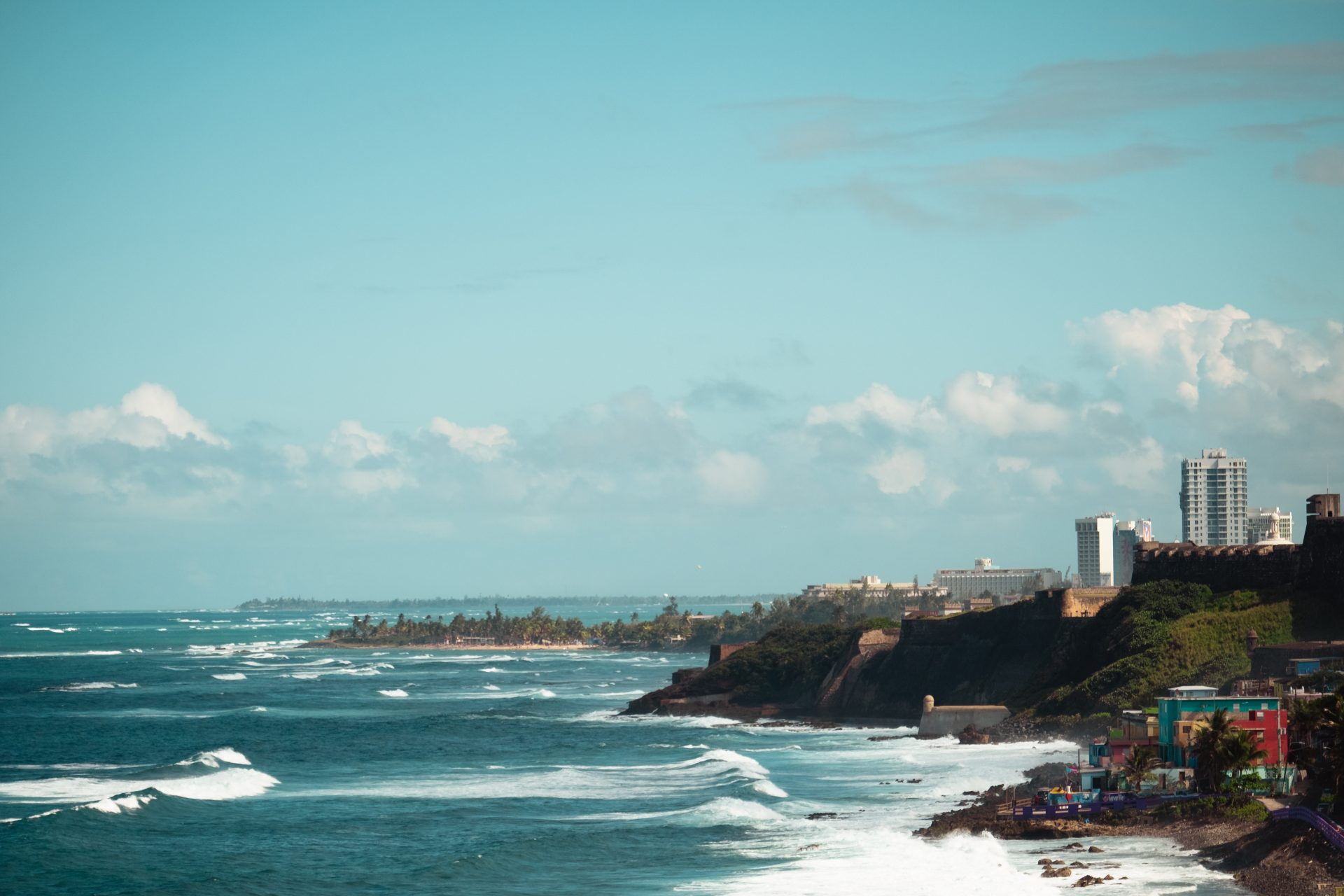 View of the ocean from old San juan Puerto Rico photo by Jo Kassis