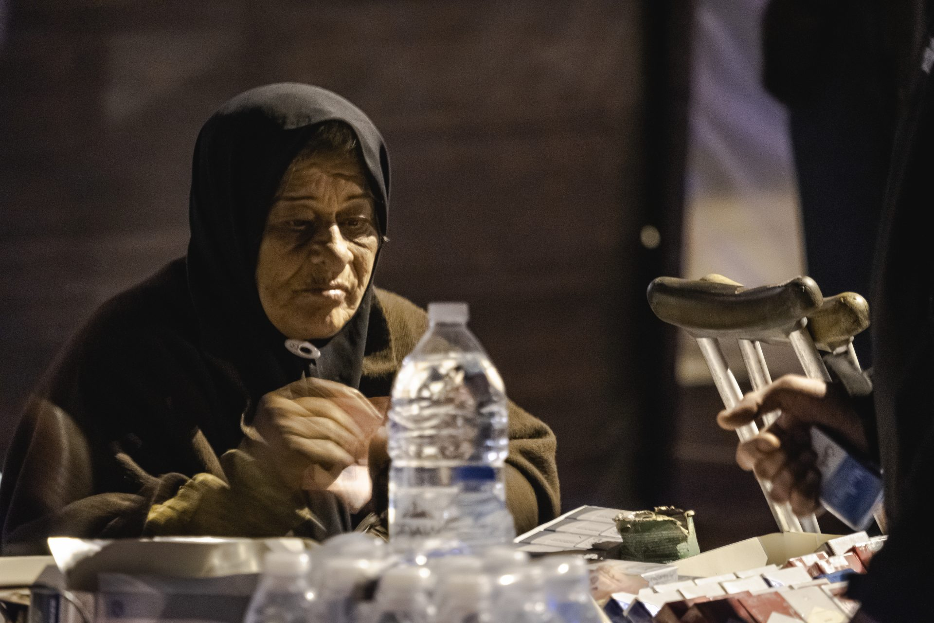 Old women in Beirut selling cigarettes photo by Jo Kassis